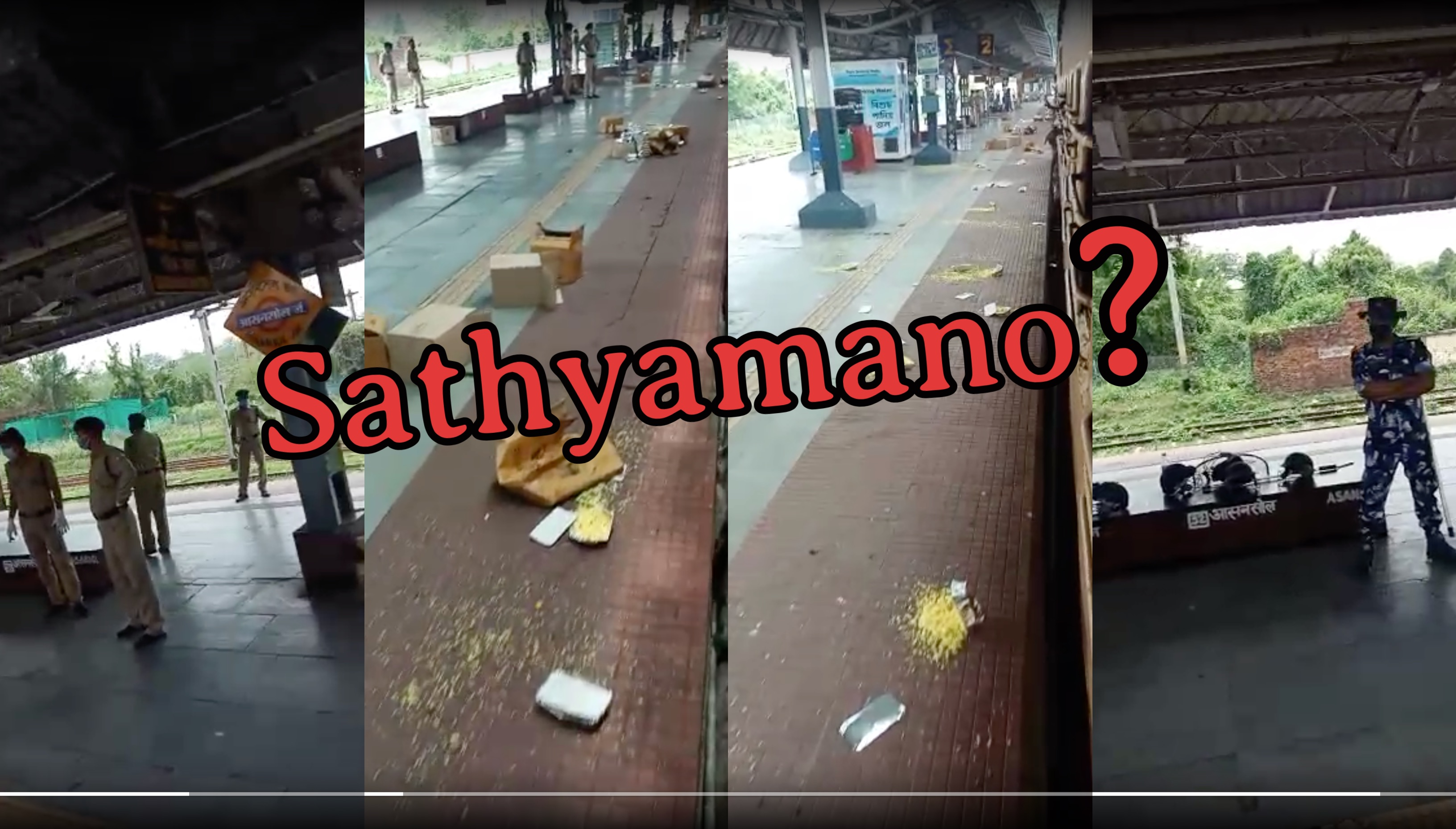 Whats the truth?: Guest workers on train from Kerala throwing food on Railway platform