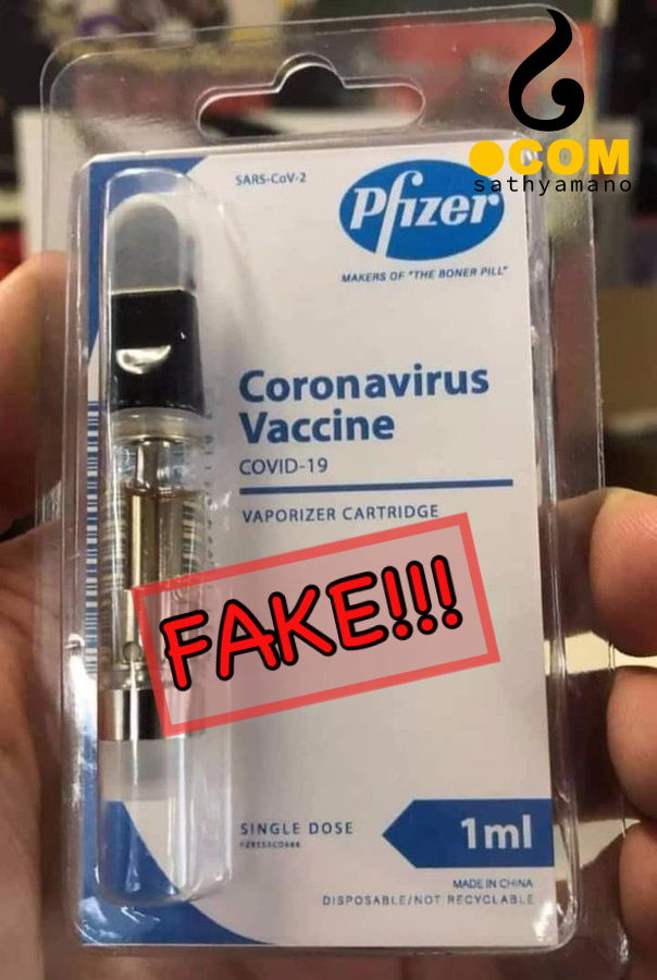 FAKE: Pfizer's corona vaccine vaporizer cartridge